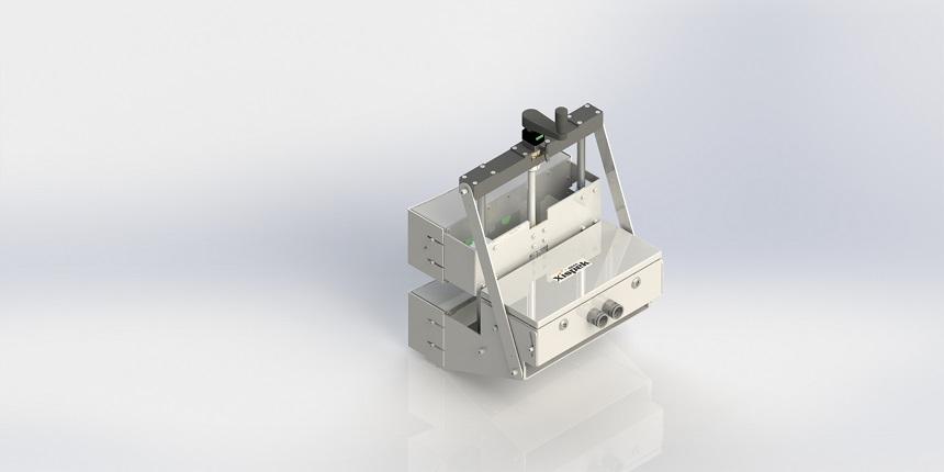 贴标机内部的容器定位系统